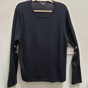 Theory Dark Navy Blue XXL Wool Pullover Sweater